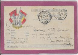 CORRESPONDANCE MILITAIRE  ( Adressée  à Mme Vve Girardot à Pont De Roide ) - Postmark Collection (Covers)