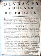 72 FRESNAY ST SAUVEUR 1799 AFFICHE PLACARD DE VENTE DE MAISONS AU RABAIS CHEZ ARNOULT   46 X 35 CM PAPIER CHIFFON - Documents Historiques