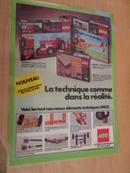LEGOLAND SPACE LEGO  ... PUBLICITE  Page De Revue Des Années 70/80 Plastifiée Par Mes Soins , - Cataloghi