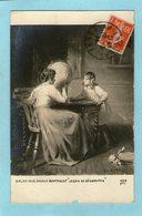 """Salon 1910- Marius BARTHALOT """" Leçon De Géographie"""" - Petite Fille - Poupée- Mappemonde - - Scuole"""