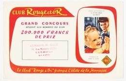 """Buvard 20.9 X 13.4 Livre Du Club ROUGE ET OR """"la Petite Soeur De Trott"""" D'André Lichtenberger  Cachet De La Librairie M. - Papeterie"""