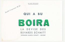 Buvard 21 X 13.7 Les Buvards SCHMITT Imprimerie Marcel Svhmitt à Belfort Qui A Bu Boira Vert - Papeterie