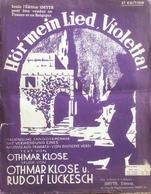 (130) Partituur - Partition - Hör'mein Lied, Violetta ! - Othmar Klose - Rudolf Luckesch - Partitions Musicales Anciennes