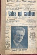 (131) Partituur - Partition - La Valse Qui Soulève - Emile Van Herck - Partitions Musicales Anciennes