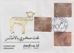 Enveloppe  FDC  1er   Jour    ALGERIE    Gravures  Rupestres  De  L' ATLAS   1987 - Préhistoire