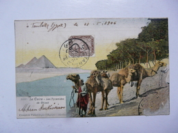 CPA AFRIQUE - EGYPTE : Le Caire - Les Pyramides De Ghizeh - Comptoir Philatélique D'Egypte - El Cairo