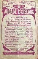 (136) Partituur - Partition - Aubade D'Oiseaux - Michel Péguri - Partitions Musicales Anciennes