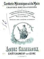 CHAILLOUX  Corderie Mecenique Et à Main  CHATEAUNEUF Sur LOIRE  (Loiret)   Belle Illustration  Fiscal 1916 - Lettres De Change