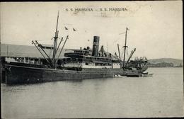 Cp Dampfschiff SS Marsina, Burns Philp Co - Non Classés