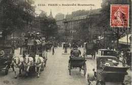 PARIS Boulevard Montmartre Diligence Voiture Attelages RVCachet SAIGON CENTRAL COCHINCHINE - Arrondissement: 02