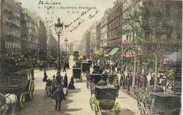 PARIS Boulevard Montmartre Attelages Commerces Colorisée RV - Arrondissement: 02