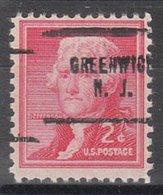 USA Precancel Vorausentwertung Preo, Locals New Jersey, Greenwich 704 - Vereinigte Staaten