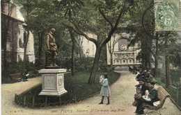 PARIS Square St Germain Des Près Fillette Poupée  Nounous  Colorisée L.V. & Cie RV AQUA PHOTO - Places, Squares