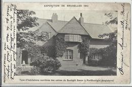 Bruxelles - Exposition Universelle 1910 - Type D'habitations Ouvrières Des Usines Du Sunlight Savon à PortSunlight (Angl - Wereldtentoonstellingen