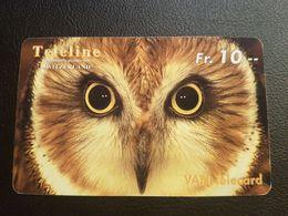 SWITZERLAND - PHONE CARD - PRÉPAYÉE ***  CHOUETTE  *** - Owls
