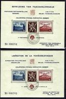 BELGIE Belgien - CSSR AS14+AS15** / Lidické Lidice / Belgie 1945 / Ceskoslovensk / Bratislava 1937 - Tschechoslowakei/CSSR