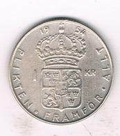 1 KRONA 1954 ZWEDEN /1221/ - Schweden