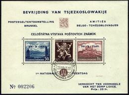 BELGIE Belgien - CSSR AS15** / Lidické Lidice / Belgie 1945 / Ceskoslovensk / Bratislava 1937 - Tschechoslowakei/CSSR