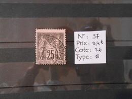 FRANCE  YT97 TYPE SAGE 25c. Noir S.rose Type II Cachet à Date - 1876-1898 Sage (Type II)