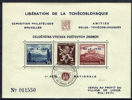 BELGIE Belgien - CSSR AS14** / Lidické Lidice / Belgie 1945 / Ceskoslovensk / Bratislava 1937 - Tschechoslowakei/CSSR
