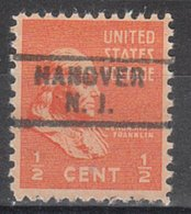 USA Precancel Vorausentwertung Preo, Locals New Jersey, Hanover 745 - Vereinigte Staaten