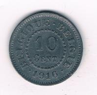 10 CENTIMES 1916 BELGIE /1230/ - 1909-1934: Albert I.