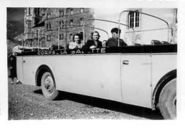AUTOCAR CORPS LA SALETTE   PHOTO ORIGINALE  8.50 X 6 CM - Automobiles