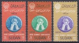 Sudan Soudan 1967 Organisationen Arabische Liga Arab League Hände Hands Medaillen Medals Konferenz, Mi. 233-5 ** - Sudan (1954-...)
