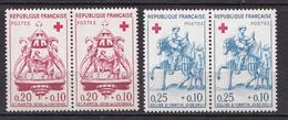 N° 1278 Et 1279 Au Profit De La Croix Rouge   Belles Paires De 2 Timbres Neuf Impeccable - France