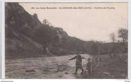 SAINT LEONARD DES BOIS ROCHERS DE THOYERE ANIMEE PECHEURS A LA LIGNE TBE - Saint Leonard Des Bois