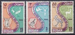 Sudan Soudan 1967 Verwaltung Administration Provinzen Provinces Wappen Arms Tiere Animals Vögel Birds, Mi. 227-9 ** - Sudan (1954-...)