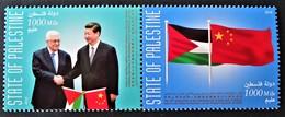 RELATIONS DIPLOMATIQUES AVEC LA CHINE 2018 - PAIRE NEUVE ** - YT 376/77 - Palestine