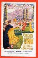 THU070 Affiche BYRRH Tonique QUINQUINA Par J. ENGEL 6em Prix- 66 Ex-aequo Concours Affiches 112 Lauréats Cppub 1910s - Reclame