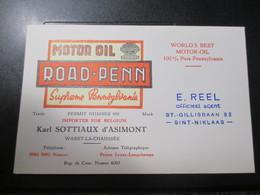 Waret La Chaussee Namur Oil Pennsylvania 1950 - Cartes De Visite