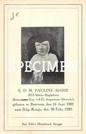 E.D.M. Pauline-Marie - Rys Maria-Magdalena - Beernem - Beernem