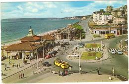 Bournemouth: OPEN TOP BUS, MORRIS MINOR, AUSTIN MINI, FORD ZEPHYR, ZODIAC, ANGLIA, OPEN DOUBLEDECK BUS - Pier Approach - Voitures De Tourisme