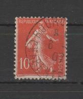 FRANCE / 1906 / Y&T N° 135 : Semeuse Camée (chiffres Maigres) 10c Rouge - Oblitéré 1907. SUPERBE ! - Used Stamps