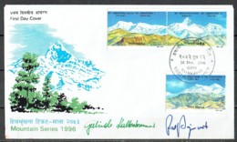 Nepal 1996. Annapurna Mountain Range. Cover Signed By The Famous Climbers Gerlinde Kaltenbrunner & Ralf Dujmovits. - Arrampicata