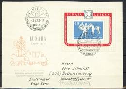 Schweiz MiNr. Bl. 14 Brief, LUNABA, Luzern - Briefe U. Dokumente