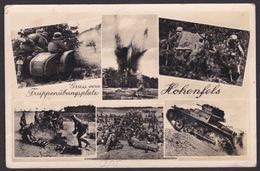 AK / Truppenübungsplatz Hohenfels / Panzer / Geshütz / Motorrad / Gelaufen 1939  ...  ( E 442 ) - Regensburg