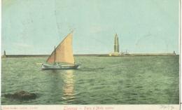 Livorno 1902; Faro E Molo Nuovo - Viaggiata. (Pilade Soranzo - Livorno) - Livorno