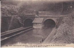 CPA ARZWILLER LES GRANDS TUNNELS DU CHEMIN DE FER STRASBOURG PARIS ET DU CANAL DE LA MARNE AU RHIN - Arzviller