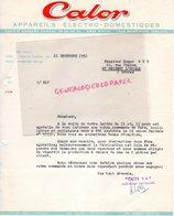 69 - LYON MONPLAISIR- FACTURE CALOR APPAREILS ELECTRO-DOMESTIQUES-  - 1952 - Ambachten
