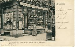 Bruxelles Boulevard Du Nord 1903 - Cafés, Hôtels, Restaurants