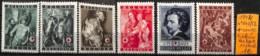 [831754]TB//**/Mnh-Belgique 1944 - N° 647/52, Van Dyck, Tableau - Peinture - Art, Croix-Rouge, Organisations - Belgique