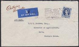 GREAT BRITAIN - WESTERN SAMOA 1/6 QEII CADBURY & BOURNVILLE PERFIN - 1952-.... (Elizabeth II)