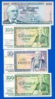 Islande  4  Billets - IJsland