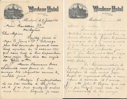 Canada -  Lettre à Entête  Du 27 Juillet 1896 - Windsor Hôtel - Montréal - Canada