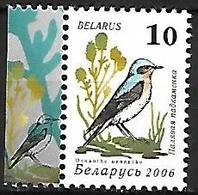BELARUS - MNH 2006 : Garden Birds Of BELARUS :  Northern Wheatear -   Oenanthe Oenanthe - Pájaros Cantores (Passeri)