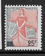 Maury 1216 - 25 F Marianne à La Nef - * - 1959-60 Marianne (am Bug)